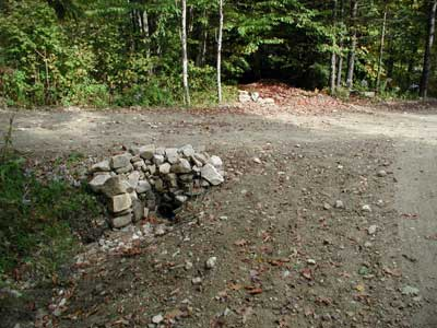 view of driveway culvert