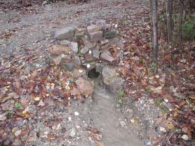 water leaving culvert