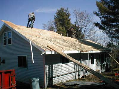 view new roof installation