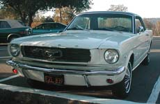 front view of 1966 Mustang