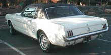 rear view of 1966 Mustang